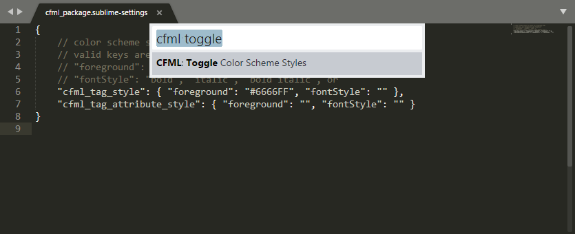 CFML Package Color Toggle